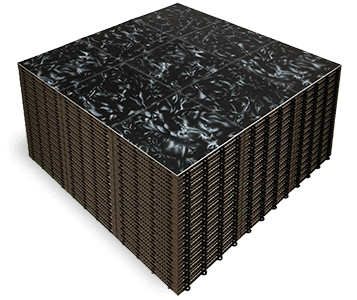 A stack of Luxury Black Marble high-end dance floor panels