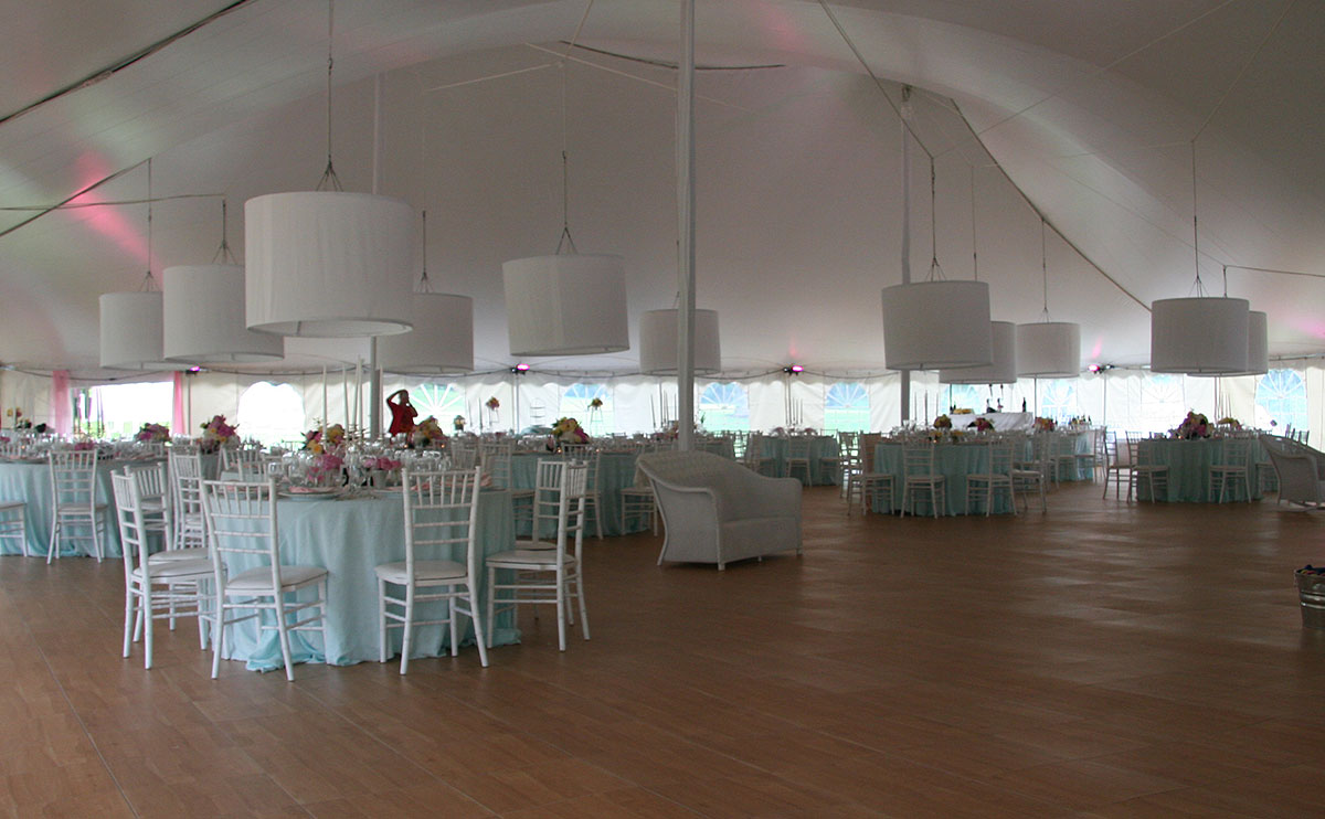 Floor at a tent wedding