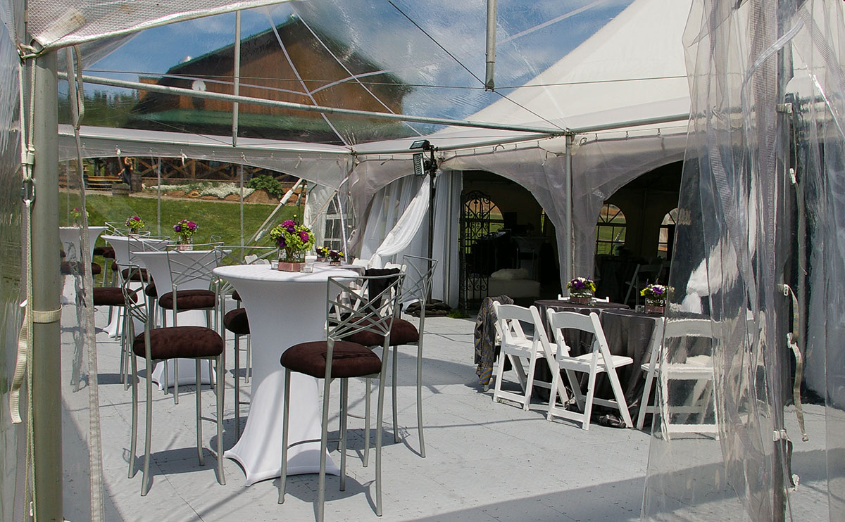 FastDeck® used for tent event flooring