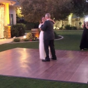 Wedding dance on Dark Maple SnapLock Plus dance floor