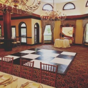 Black and White Slate style dance floor at an indoor event venue