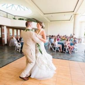 SnapLock Maple XL dance floor at a wedding