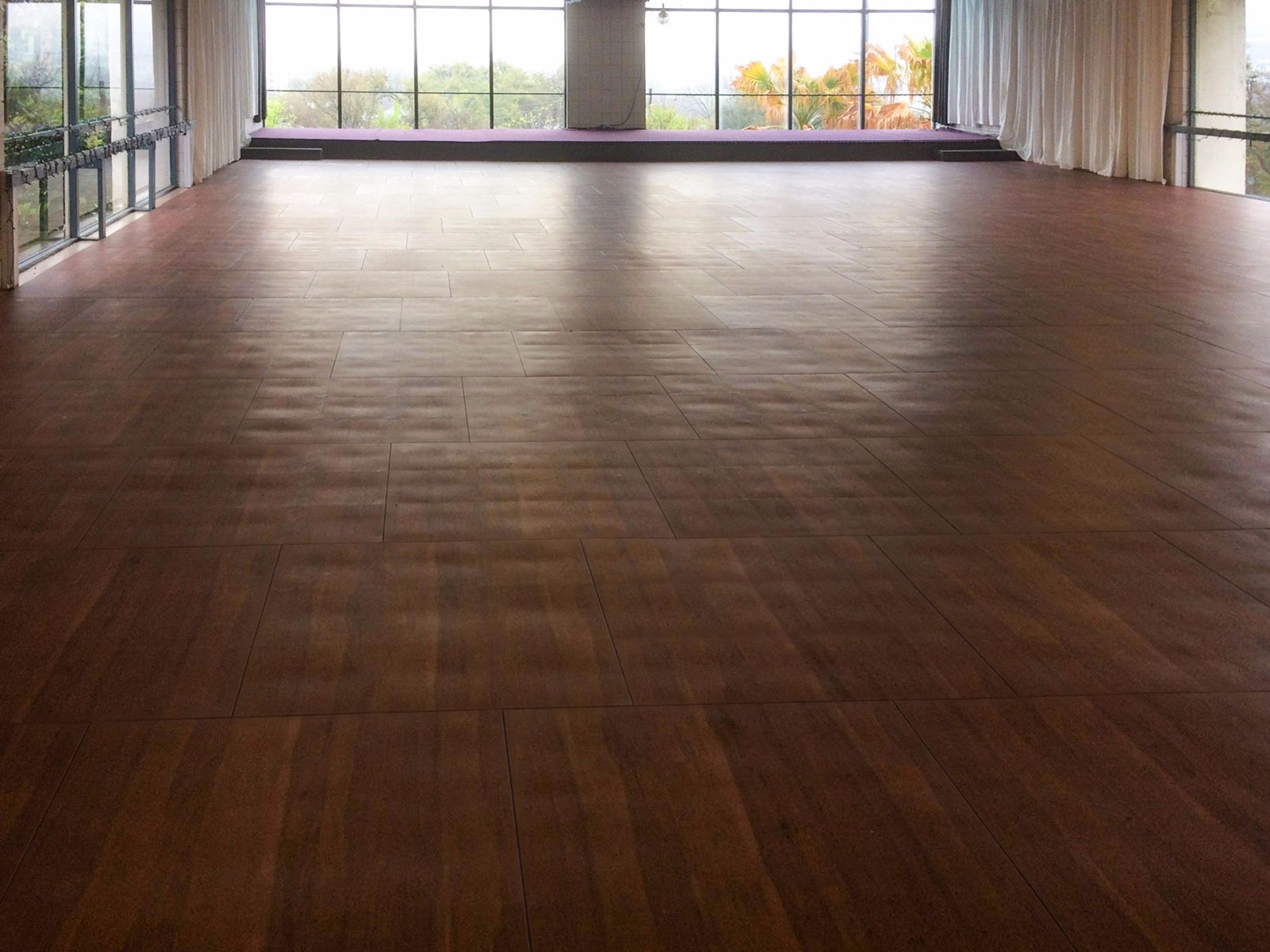 SnapLock Plus Dark Maple in a dance studio