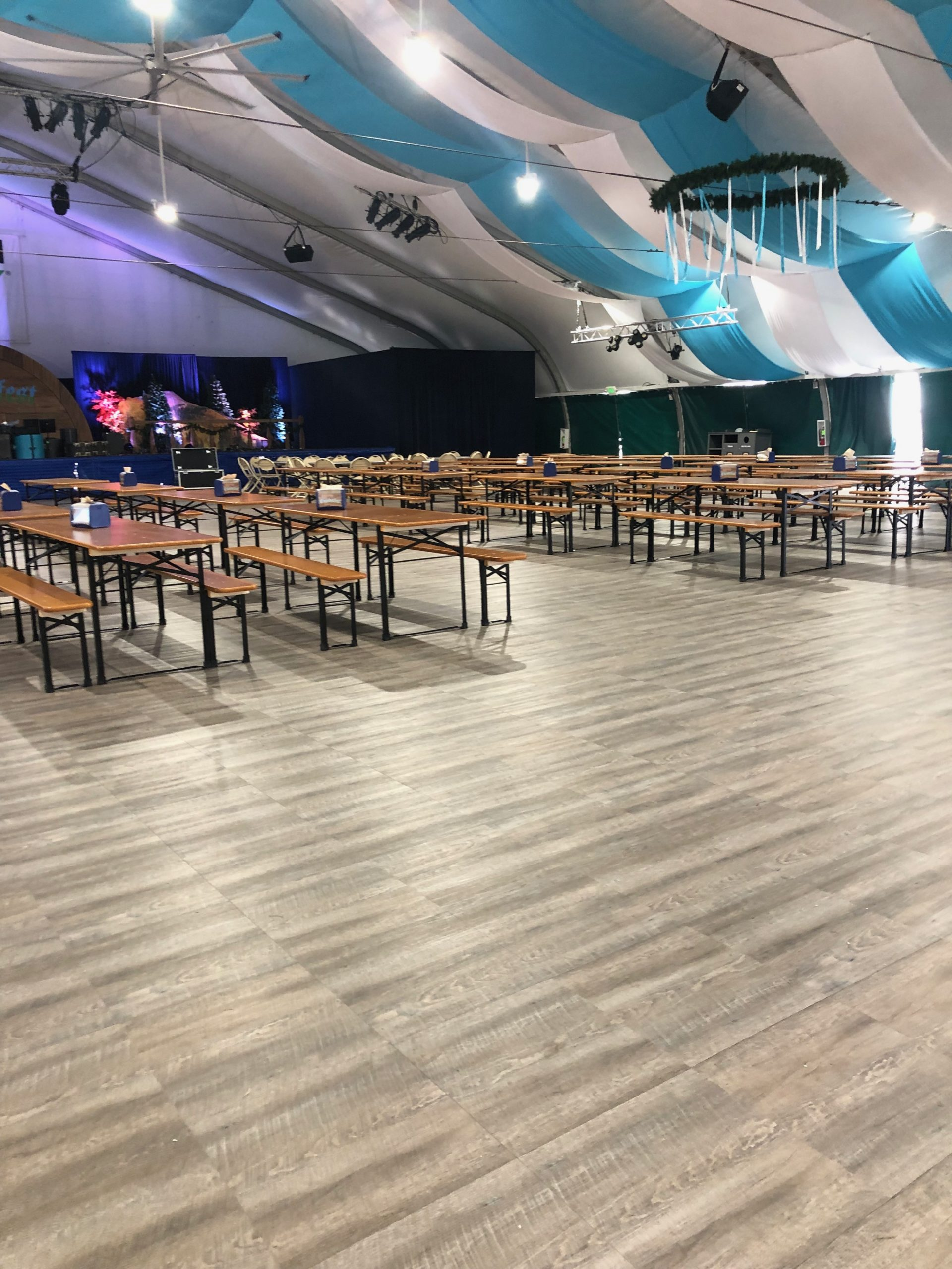 More seating and Smoked Oak flooring at the Oktoberfest event