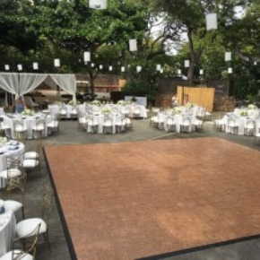 Portable Teak Dance Floor at a wedding setup
