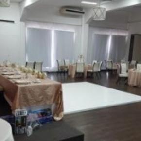 Slate White wedding dance floor with edging