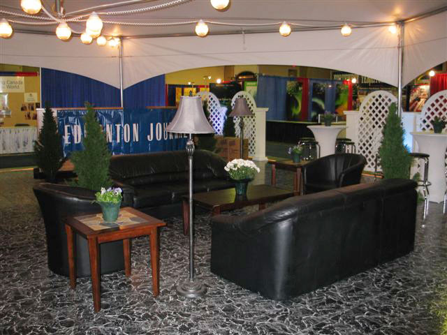 Black Marble at a trade show display