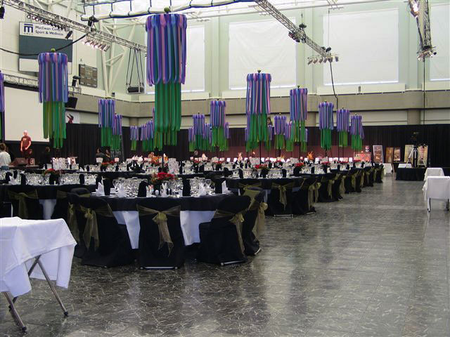Large formal event with Black Marble dance floor