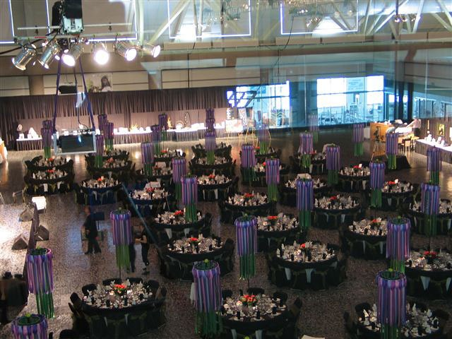 black marble portable dance flooring at large event