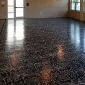 Black marble portable flooring for large event