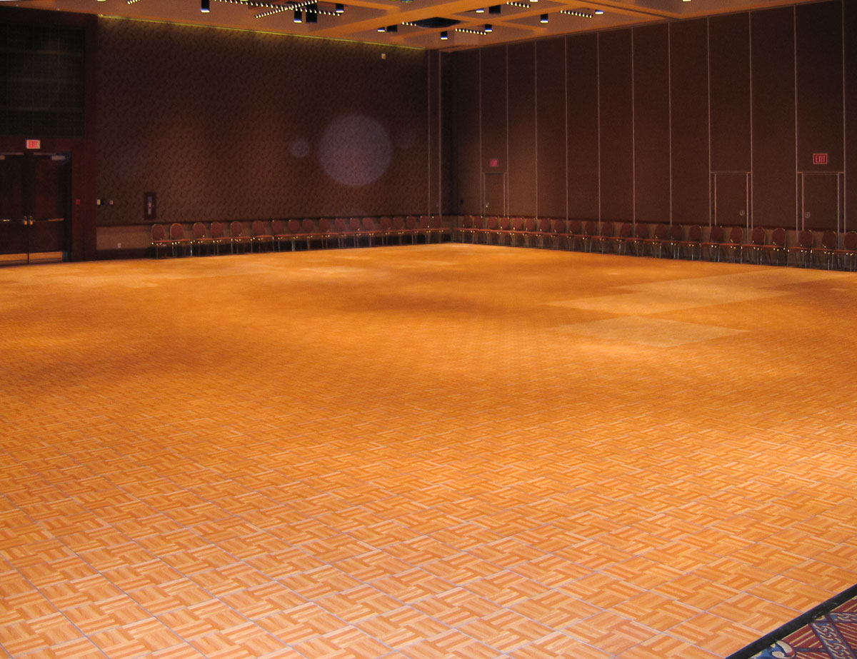 hotel ballroom oak portable dance floor