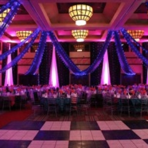 luxury black and white portable dance floor for weddings