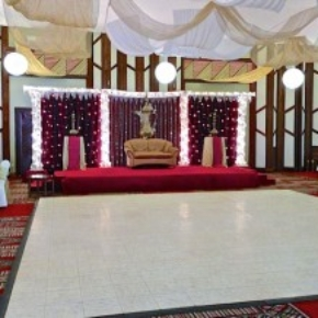 luxury white marble indoor portable dance floor