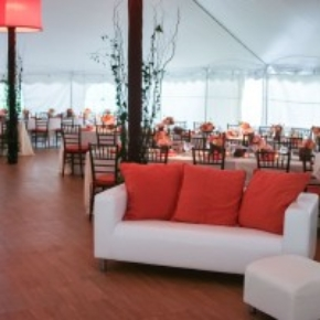 maple dance floor for lounge area tent event