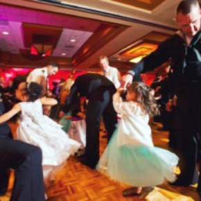 Oak style dance floor at a US Navy daddy-daughter dance