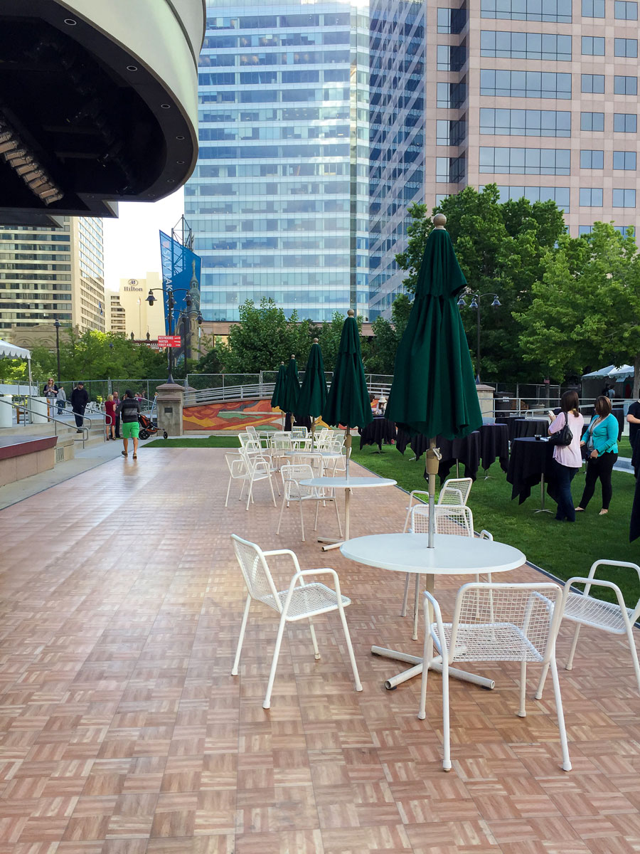 Oak Dance Floor as outdoor event flooring