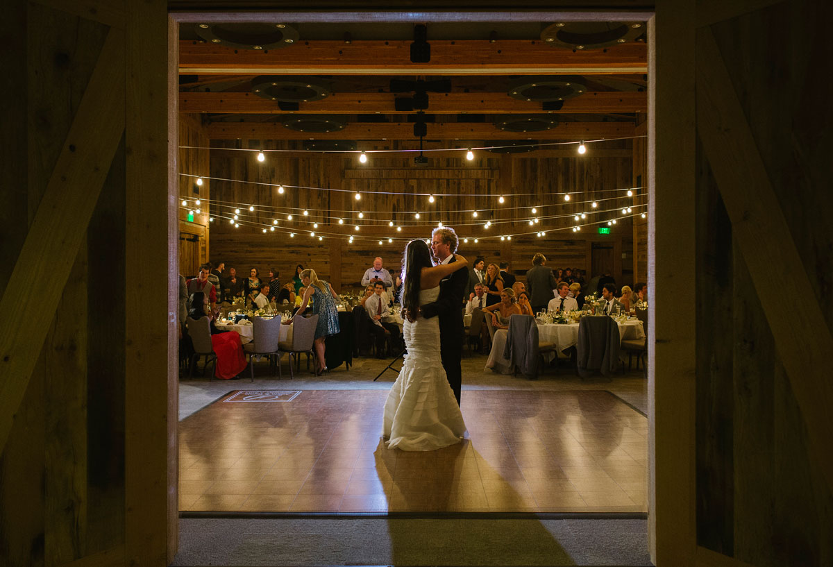 Teak Dance Floor at a rustic wedding venue