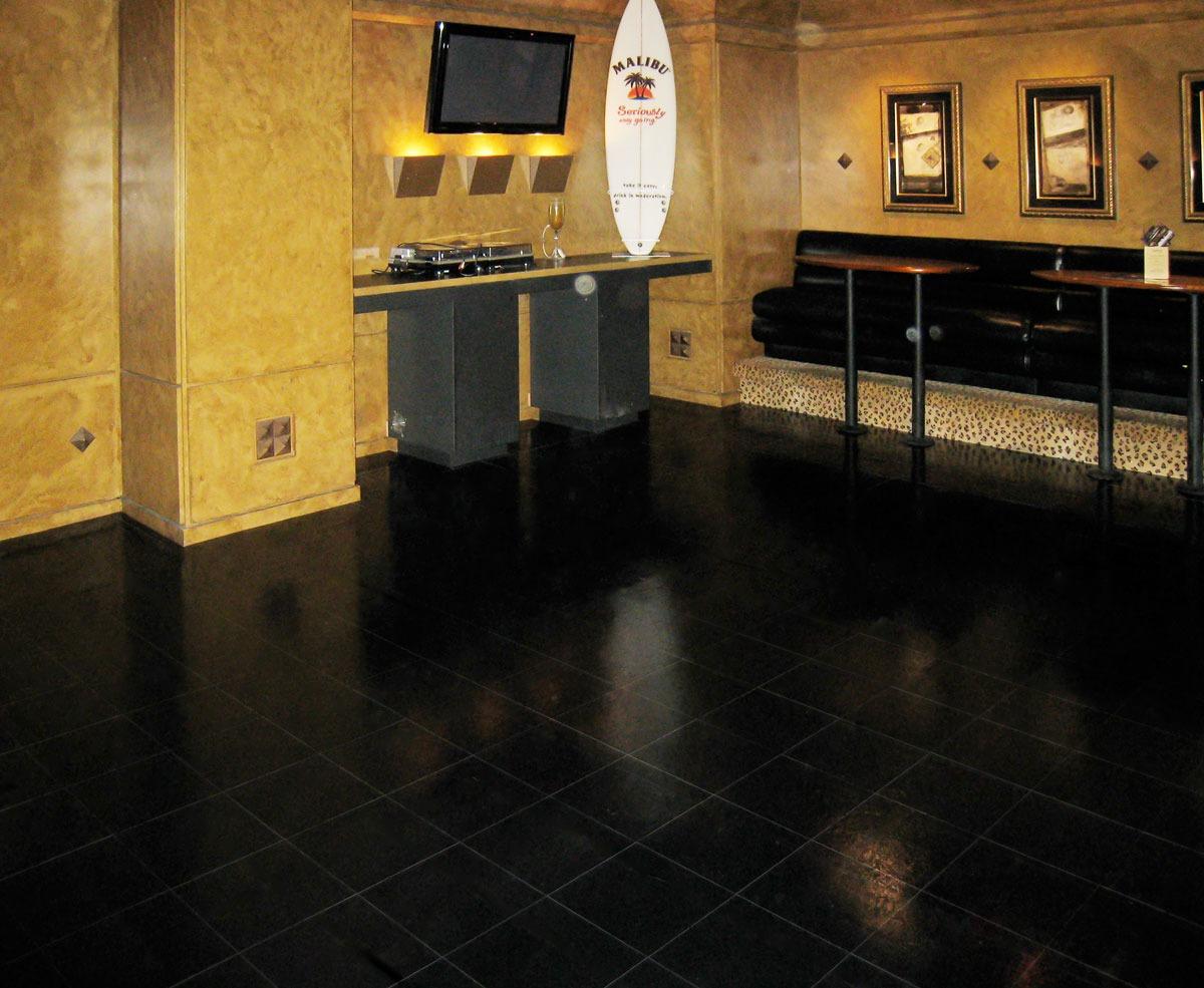 Slate Black Dance Floor at a club