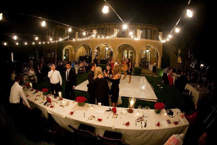 Garden Party with a Slate White Dance Floor