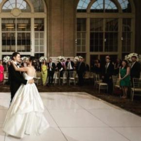 Slate White Plus dance floor at a wedding