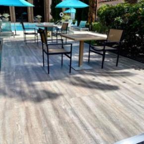 Smoked Oak Plus flooring near the pool at the Waldorf Astoria in Boca Raton