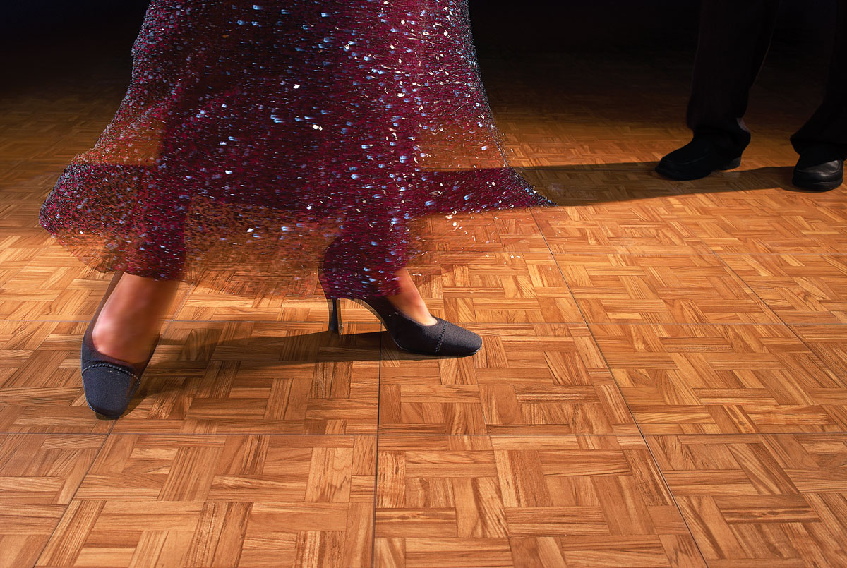 A tango on a Teak Dance Floor