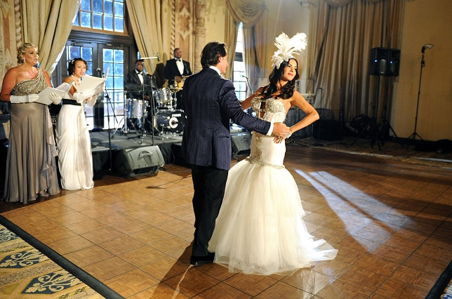 Real Housewives of Miami portable dance flooring for wedding