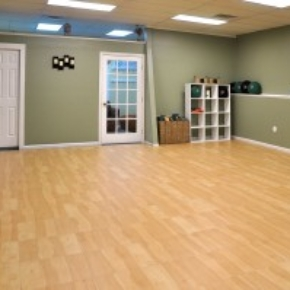 maple portable dance floor for yoga studio