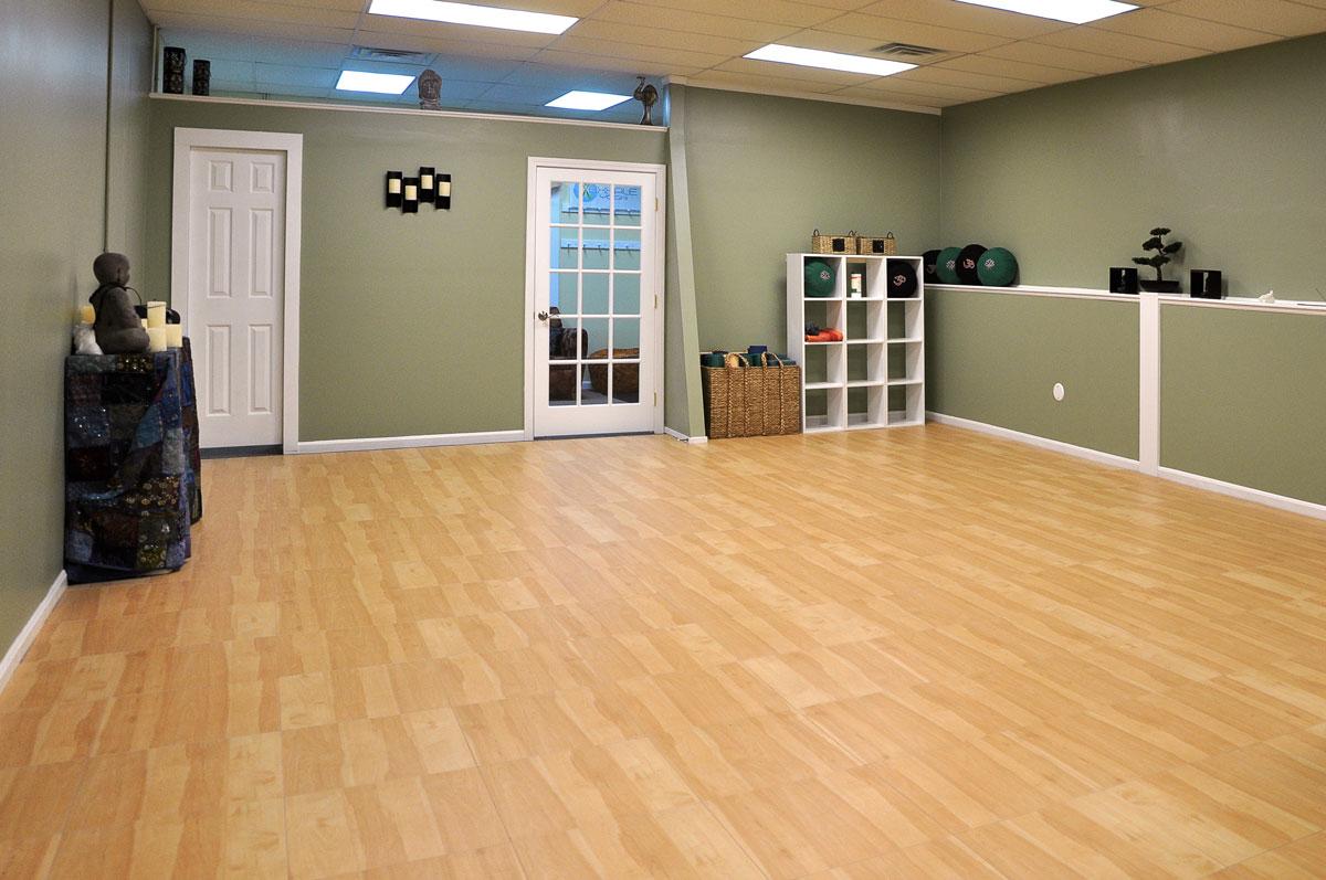 A yoga and dance studio with Maple Dance Floor