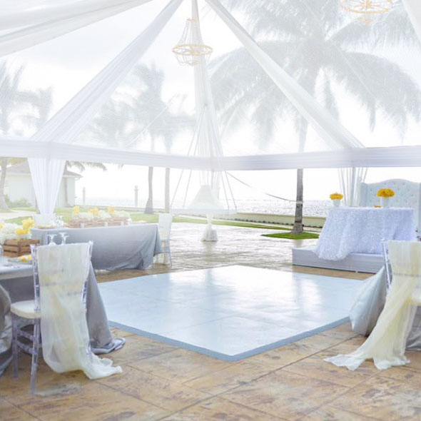Slate White Plus dance floor in Jamaica