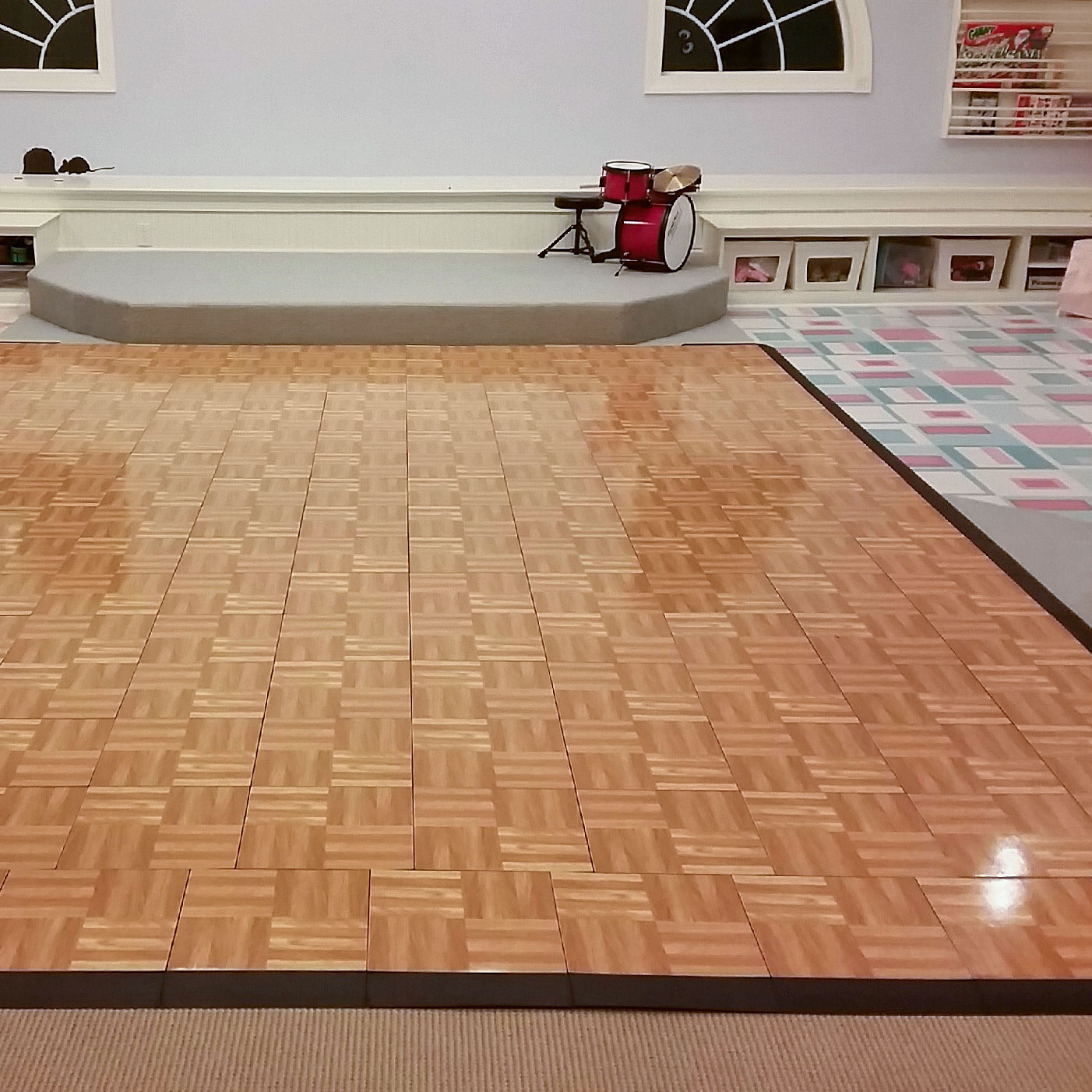 Playroom with Oak dance floor and edging