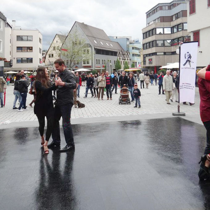 Outdoor Ballroom Event with Portable Slate Black Dance Floor