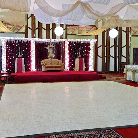 Luxury White Marble Dance Floor at an indoor venue