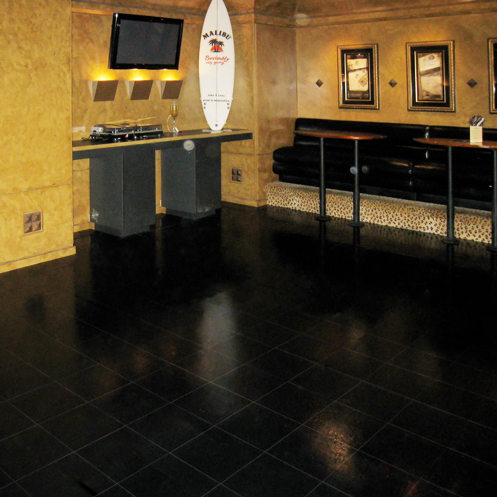 Slate Black used as indoor flooring