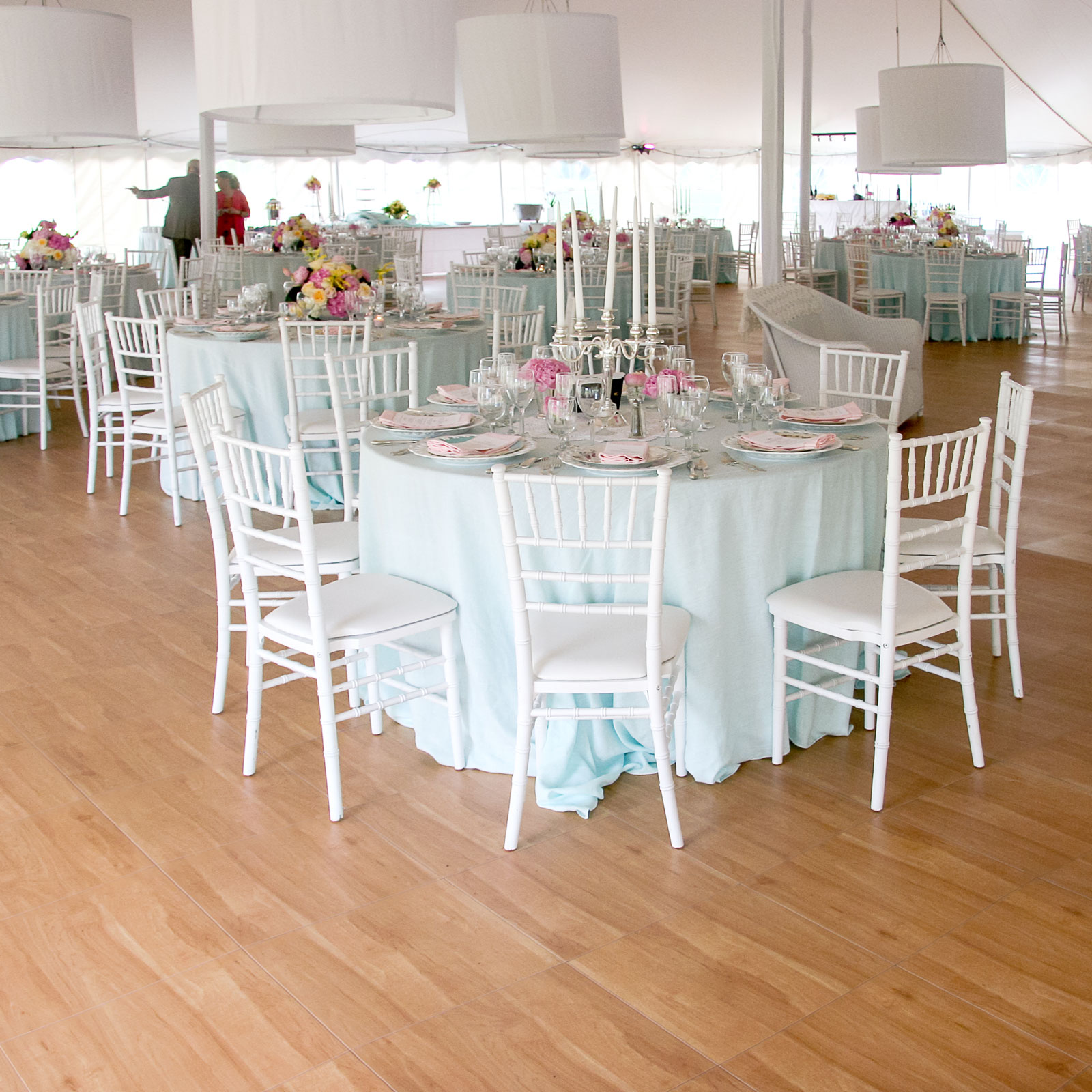 Maple Flooring at a tent event