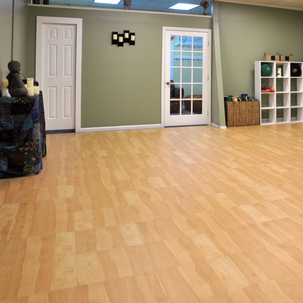 Maple XL flooring used in a yoga studio