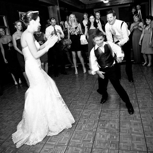 Teak dance floor at a Lake Tahoe resort