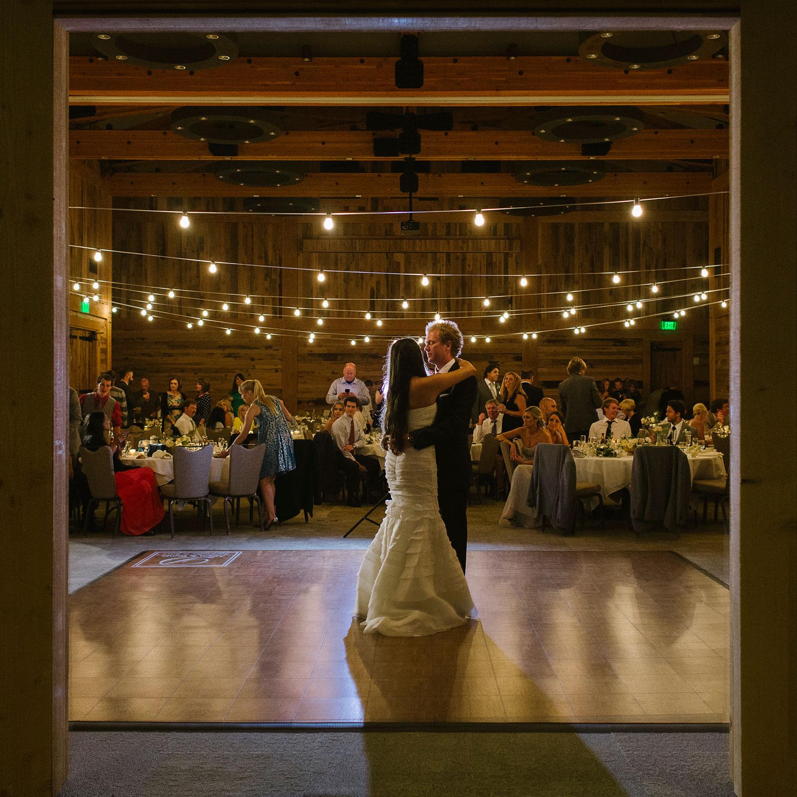 Teak Dance Floor at a wedding