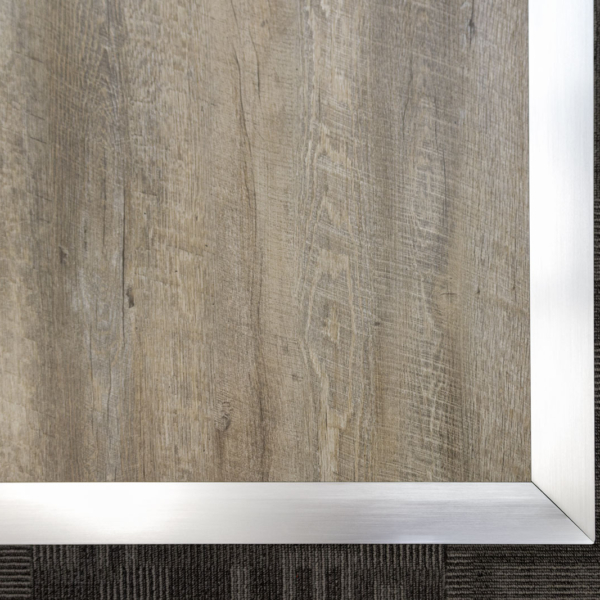 Silver style Aluminum edging on Smoked Oak.