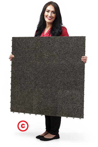 SnapLock Snap-Carpet flooring panel